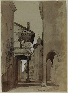 John Ruskin,Street in Bologna,1845