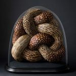 Serpentine Coiled Sculptures of Found British Bird Feathers by Kate MccGwire