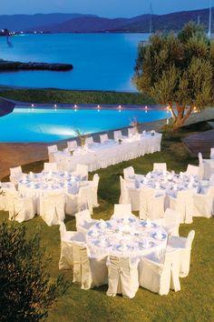 Greek wedding! #whitefurniture #clean #clearbluewater