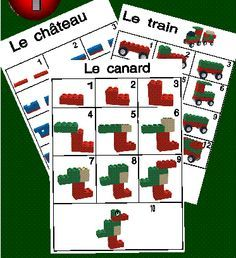 Gratis te downloaden stappenplannen voor lego, duplo. Klik op een voorbeeld en het stappenplan wordt geopend.