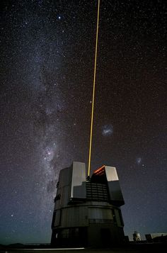 ESO's Very Large Telescope (VLT) tested a new laser on February 14, 2013. The laser will make up a vital part of the Laser Guide Star Facility (LGSF), which allows astronomers to correct for most of the disturbances caused by the constant movement of the atmosphere.