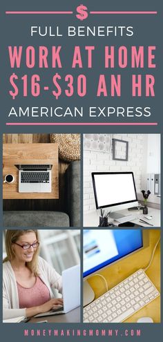 If you're looking for work at home, you wanna make sure you're looking for the very best jobs possible. You want a reputable company, benefits and great pay, right? How about American Express! They have many work at home positions -- check out what they offer and if you qualify -- if so, details on how to apply too! #workathome #legitimateworkathome #onlinejobs #workathomejobs