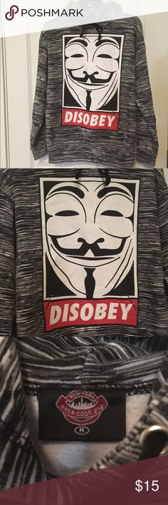 DISOBEY Unisex Hooded Sweatshirt! Size Medium!! DISOBEY Hooded Sweatshirt! Size Medium!! Made by New York Area Code 212!! ••( This is not OBEY Brand)•• This will fit a medium size women!! In great condition!!! Open to all offers!!! Tops Sweatshirts & Hoodies