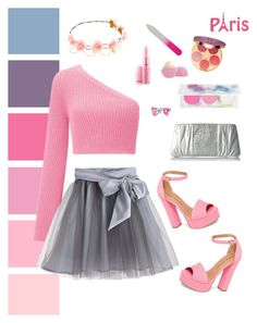 """""""Cotton Candy Pink"""" by victoriasuek ❤ liked on Polyvore featuring Miss Selfridge, Little Wardrobe London, tarte, Eos, Chinese Laundry, Betsey Johnson and Bling Jewelry"""