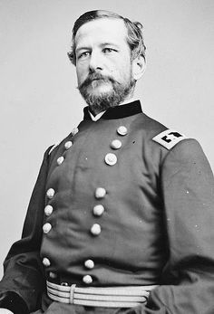 Alfred Pleasonton (July 7, 1824 – February 17, 1897) US Army officer & Union General during the American Civil War. He commanded the Cavalry Corps of the Army of the Potomac during the Gettysburg Campaign, including the largest predominantly cavalry battle of the war, Brandy Station. In 1864 he was transferred to the Trans-Mississippi Theater, where he defeated Confederate Gen. Sterling Price in two key battles, effectively ending the war in Missouri. Pleasonton was born in Washington, D.C