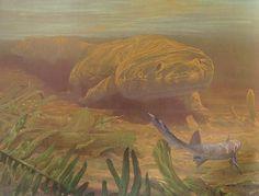 "Batrachosuchus, Douglas Henderson  ""Dawn of the Dinosaurs: Life in the Triassic"""