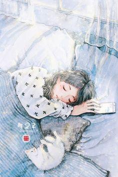 drawings of love Tumblr Wallpaper, Cartoon Wallpaper, Art Anime Fille, Anime Art Girl, Aesthetic Art, Aesthetic Anime, Art Mignon, Art Et Illustration, Digital Art Girl