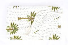 Mini Kantha- Boho Palm (BACK MID JUNE)