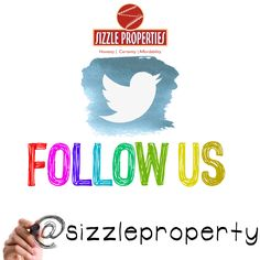 Follow us on Twitter & stay updated with all the interesting news about #SizzleProperties and retweet. https://twitter.com/sizzleproperty