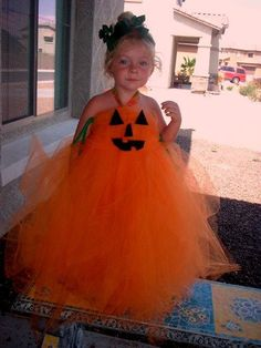 Girls Children's and Women Adult and Plus size Halloween fall Pumpkin Tutu Tulle costume