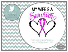 Wife Survivor Pink Ribbon Breast Cancer LL002 J  by lyricalletters