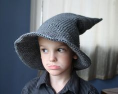SALE - Handmade Crocheted Wizard Hat - made to order Hat Making, Halloween Costumes, Winter Hats, Handmade, Clothes, Fashion, Outfits, Moda, Hand Made