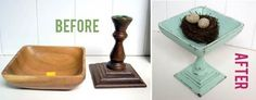 Before and After Pedestal Bowls — The Speckled Dog | Apartment Therapy