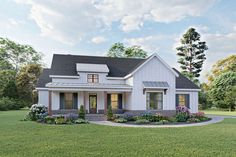 America's Best House Plans by the nations leading home designer and architects! View this collection to see our top selling home plans. One Level House Plans, One Level Homes, Best House Plans, Modern House Plans, Retirement House Plans, 4 Bedroom House Plans, Modern Farmhouse Exterior, Farmhouse Home Plans, Cottage Farmhouse
