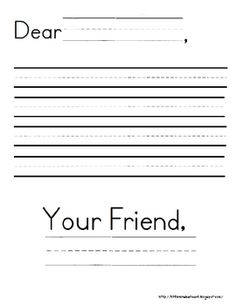 Letter Writing Paper {Freebie}http://littlemindsatwork.blogspot.com