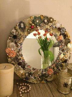 Vintage Jewelry Mirror by RogueMirer on Etsy