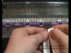Вязание двух видов кос (аранов) на восьми иглах. - YouTube