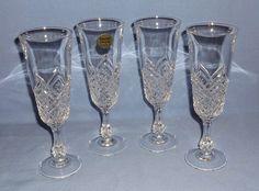 VINTAGE Cristal D'Arques/Durand Crystal Champagne Flutes - Altesse - Set of 4 #CristalDArquesDurand