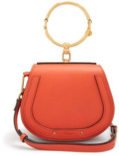 Chloé Nile small leather and suede cross-body bag Leather Purses, Leather Crossbody, Leather Handbags, Crossbody Bag, Red Leather, Chloe Nile Bag, Chloe Bag, Chloe Purses, Red Shoulder Bags