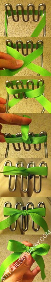 DIY Bows: Tiny bows use a Fork.Larger bows need a Potato Masher. Fun Crafts, Diy And Crafts, Arts And Crafts, Paper Crafts, Craft Projects, Sewing Projects, Craft Ideas, Sewing Tutorials, Ribbon Bows