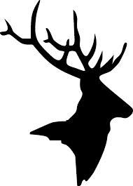 stag head silhouette - logo?