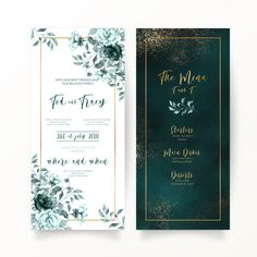 Elegant green floral and watercolor wedd... | Free Vector #Freepik #freevector #frame #wedding #watercolor #wedding-invitation