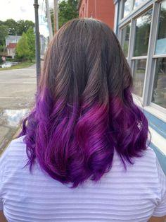 Hair Color Blue, Colored Hair, Purple Hair, Permed Hairstyles, Cute Hairstyles, Pug Wallpaper, Hair Colour Design, Cute Baby Dogs, Hairbrush