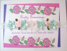 Floral Embellished Infant Headband on by TurtlestonesBoutique, $3.00
