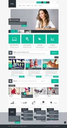 PSD Templates - Felius – Multipurpose PSD Template - Zizaza item for sale $10