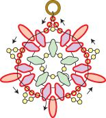 Schema for.Starburst Earrings - unless you are a beginner, this is enough.  ~ Seed Bead Tutorials