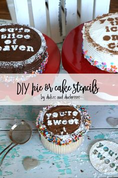 DIY pie or cake sten