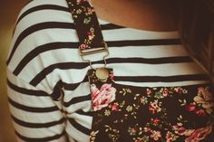 Floral and stripes.