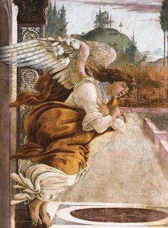 Sandro Botticelli (1445-1510) I Annunciazione di San Martino alla Scala (1481) (detail)