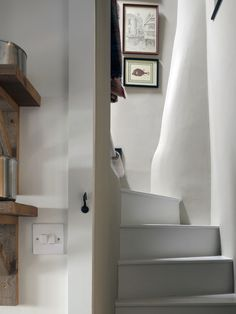 Farrow and Ball Cornforth white hallway: Farrow and Ball Cornforth white Colour study on Modern Country Style. Click through for details..
