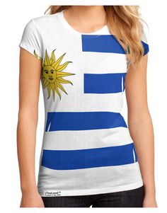 Represent Uruguay with this sporty flag all-over print design, whether you are from there or just love the country! Available on many items. These fun printed garments are a great personal touch on yo