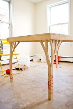 kitchen table in progress | please ignore the yarn…. side ta… | Flickr
