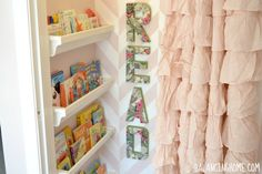 Closet to Reading Nook for A Big Girl Room LOVE the herringbone paint pattern