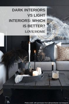 Dark interiors that have been well dressed feel cocooned and cosy. But light interiors are fresh and easy to style. Which is your favourite and why? Plum Walls, Dark Walls, Dark Interiors, Colorful Interiors, Light Vs Dark, Dark Home Decor, Dark House, Small Apartment Decorating, Contemporary Interior Design
