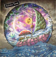 Latest colouring from Johanna Basfords enchanted forest :-) #johannabasford #magicaljungle