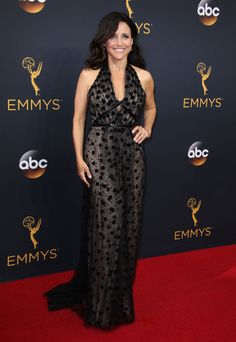 Julia Louis-Dreyfus in custom Carolina Herrera.
