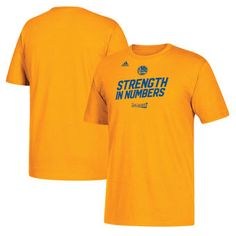 Golden State Warriors adidas 2017 NBA Playoffs Slogan T-Shirt - Gold