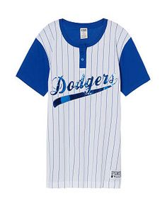 1d454e4d04d Los Angeles Dodgers Bling Campus Henley Tee Bling Shirts