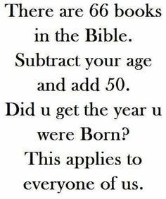 The Bible and Your Year of Birth