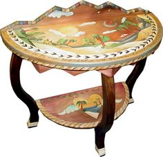 Exotic Painting Half Round Table Ideas