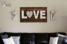 """What a gorgeous artwork made from old pallets or boards.  The """"heart"""" is so sweet.  www.rehouseny.com for salvaged wood"""