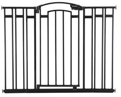 The First Years Extra Tall Decor Gate This Sy Brushed Metal Provides Safety For Your Child In A Stylish Way Home Stands