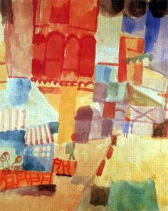 Paul Klee - Vor einer Moschee in Tunis