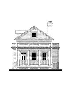 Coosaw River Cottage (variation) House Plan Design from Allison Ramsey Architects Little House Plans, Cabin House Plans, Cottage Floor Plans, Beach House Plans, Country House Plans, New House Plans, Modern House Plans, Small House Plans, House Floor Plans