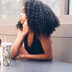 """naturalhairqueens: """"her curls are amazing """" Pelo Natural, Natural Hair Tips, Natural Hair Styles, Natural Curls, Natural Beauty, Afro Hairstyles, Pretty Hairstyles, Hairdos, Black Hairstyles"""