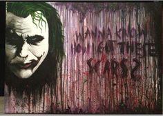 #Joker #thejoker #heathledger #whysoserious #batman #thedarkknight #wannaknowhowigotthesescars #haha